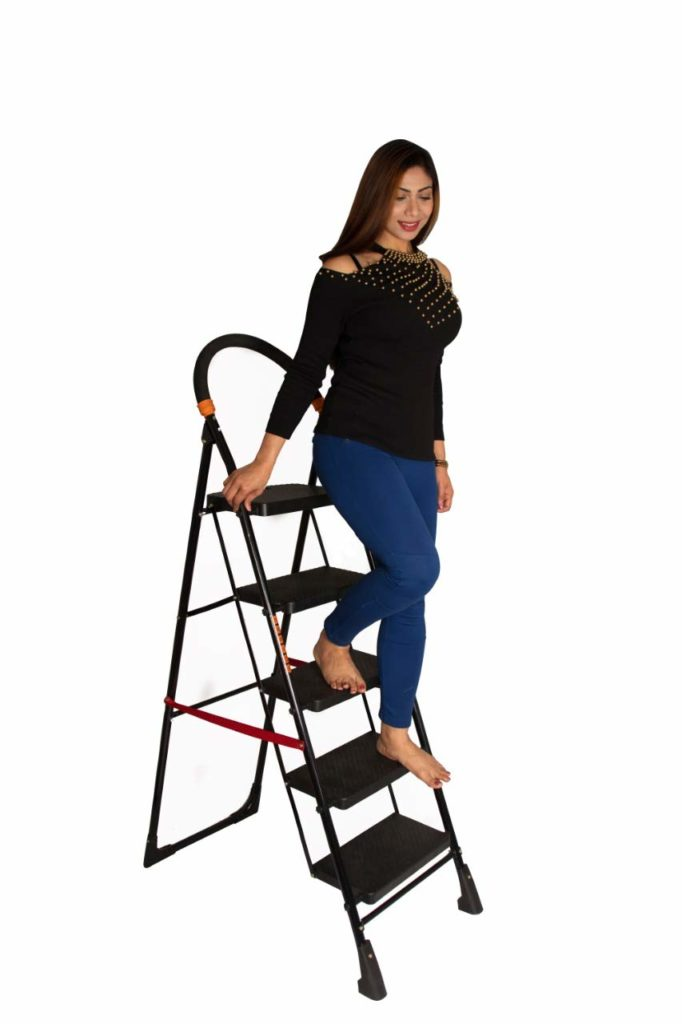 PARASNATH Back Heavy Folding Ladder With Wide Steps