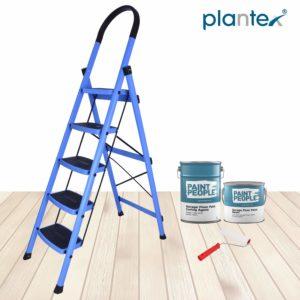 Plantex Prime Steel Folding 5 Step Ladder for Home