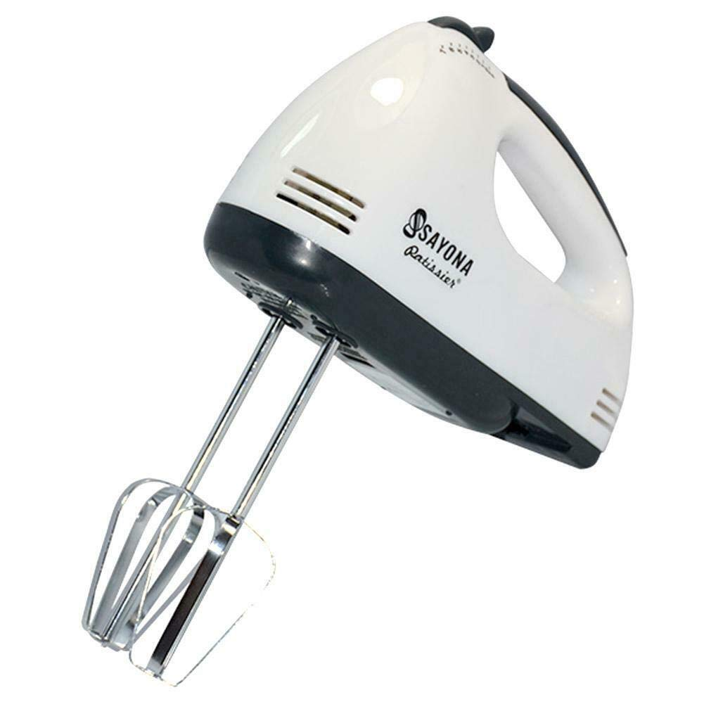 CPEX Hand Mixer Easy Mix-300W with 7 Speed Control & Detachable Stainless-Steel Finish Beater & Whisker