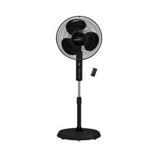 Pedestal Fan with Remote in Black Design V-Guard Esfera