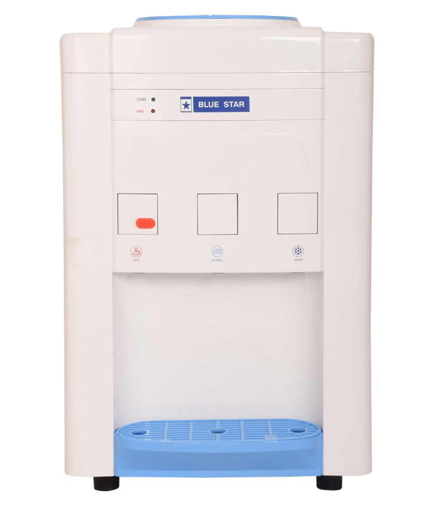 Blue Star Plastic Water Dispenser (White and Blue, standard)